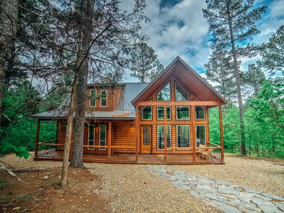 Photo for This newly constructed cabin offers both privacy and every amenity imaginable!