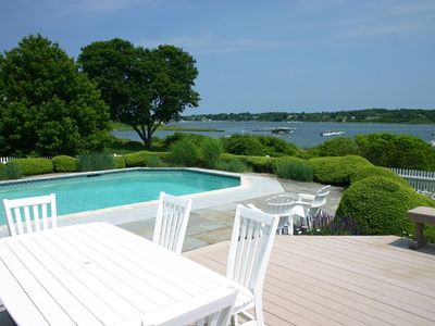 Photo for SPECTACULAR WATERFRONT RETREAT WITH HEATED POOL!!