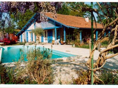Photo for Landes traditional house, indoor pool, fenced.