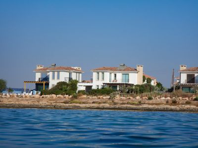 Enjoy the luxury of staying in a large beach-front villa - the views are amazing