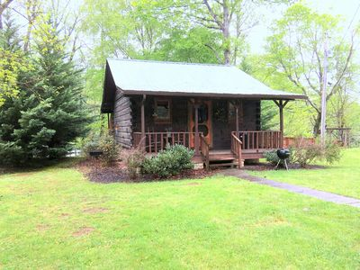 Photo for RIVER BEND - Riverside cabin for 2 - Hot Tub, Whirlpool Bath, Peace & Quiet, Bonfire pit