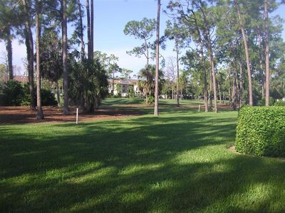 Back yard looking out to golf course