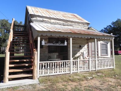 Photo for Rustic Log Cabin on 160 acres