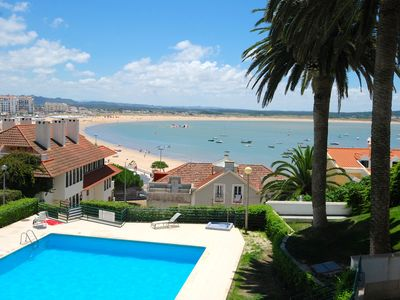 Photo for Palm Tree -Apartment with sea view, 65 m. from the beach with pool and garage