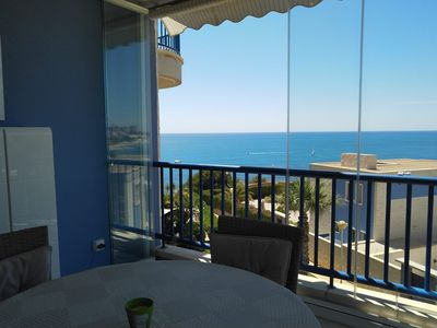Photo for Luxury apartment with stunning sea views 1st line pure luxury, swimming pool and jacuzzi