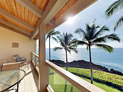 Photo for Lanai w/ Dazzling Oceanfront Views! Luxe 2BR + Loft w/ Pool, Walk to Dining