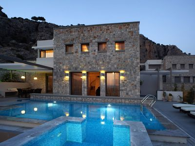 Photo for Spacious luxury 3 Bedroom Villa with private swimming pool with spa ( heated) and stunning sea views
