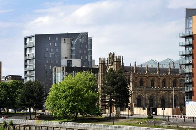 The award winning Icon building with St. Andrew's Cathedral in the foreground