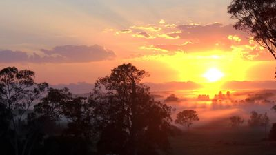 Sunrise over the Valley - taken from front porch.