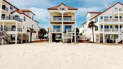 "Photo for Ready Now! No-Storm Issues! FREE BEACH GEAR! Beachfront, Pets OK, Private Boardwalk, Elevator, 5BR/4.5BA ""Cevera Sands"""