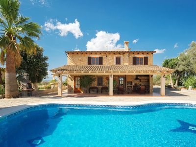 Photo for Finca Oasis, lovely an rustic well done house with wonderful Pool an views to Petra Mallorca