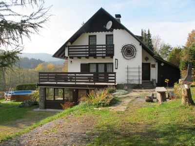 Photo for Holiday house with fireplace, sauna, games room and heated pool