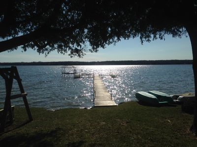 Photo for Lakefront Cottage with Sensational Sunsets!