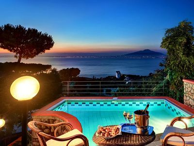 Photo for Peter's house - Private pool in villa with views of the Gulf of Naples and Vesuvius
