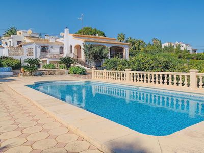 Photo for 4 Bedroom Villa with air con, WiFi and private pool, close to the beach