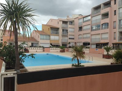 Photo for Studio 3/4 people in the center port Cap d'Agde with swimming pool