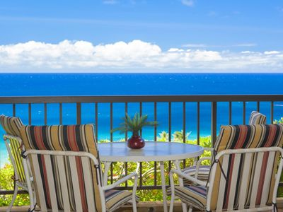 Photo for Vacation in comfort with unrivaled ocean and island views! You may never want to leave your lanai