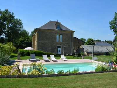 "Photo for Cottage with heated pool (in season) and sauna ""Le Château"" ***"