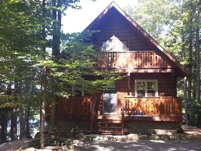 Photo for Charming 4 Season Log Cabin Cottage Lakefront Retreat