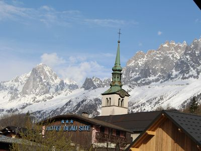 Photo for Apartment sleeps 6/7, in the heart of Les Houches, Chamonix Valley
