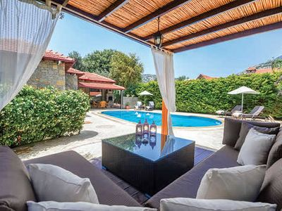 Photo for Peaceful property w/ pool and covered terrace close to shops and bars
