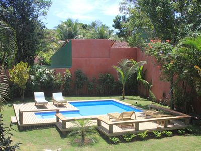 Photo for Spacious and quiet house with pool, 700 meters from Quadrado.