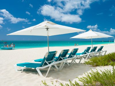 Photo for Directly on Beach, 2 BR Luxury Villa - Heart of Grace Bay - Grandview Resort