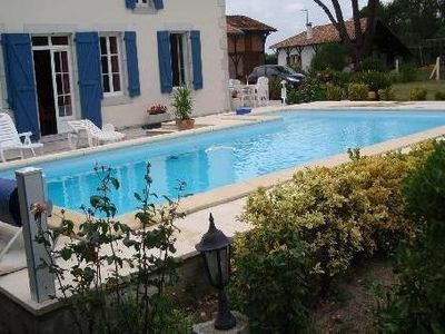 Photo for Rental house of character with private pool in the Landes
