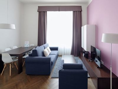 Photo for Apartment 978 m from the center of Prague with Air conditioning, Lift, Washing machine (666220)