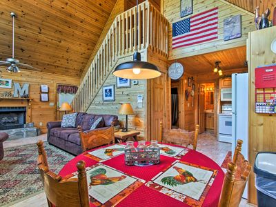 Photo for 'The Moonshine' Cabin w/Hot Tub- 3 Mi to Dollywood