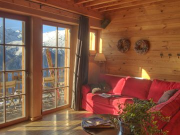 Chalet **** with spa, terrace South / View ++: very low prices in dec & january - Luxuous apartment 'Cloudit', 110 m², big terrace with sun & top view