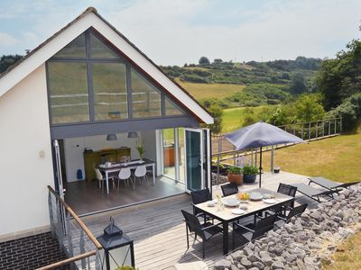 Photo for Beautifully designed contemporary eco retreat on the Sussex Downs