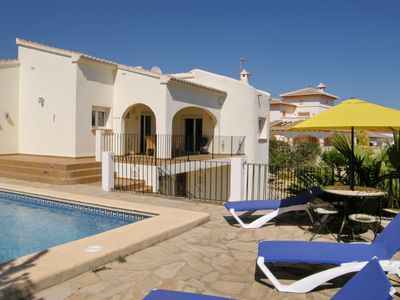 Photo for Modern, spacious villa in enclosed and secluded garden and private pool