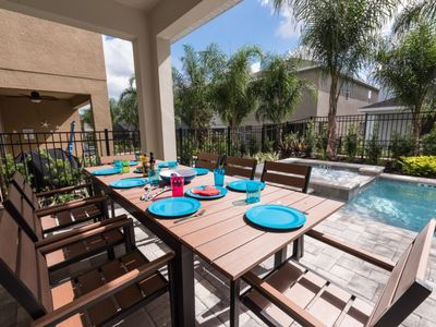 Photo for Exceptionally Clean/Free shuttle to Disney/Private pool and Spa/stylish home /