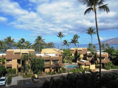 Photo for Ocean View, less than a block from Kihei's best Beach, Great Location