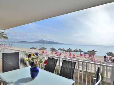 Photo for Fantastic apartment just in front of the beach 174