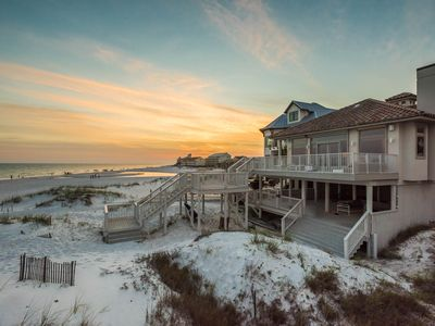 Photo for LUXURY Gulf Front Home! Sprawling Porches!