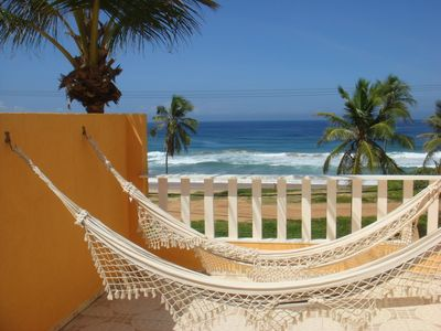 Photo for Duplex walk in sand facing the sea, wifi, pool and barbecue !!
