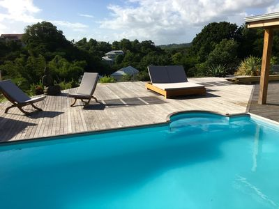 Photo for Upscale, contemporary villa with a pool, close to Gosier Beach