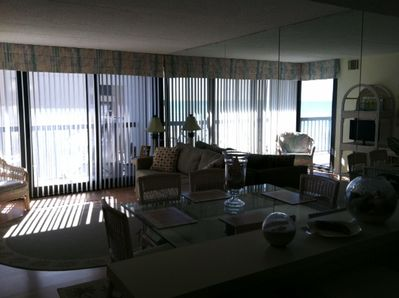 View from kitchen to Living/Dining Room
