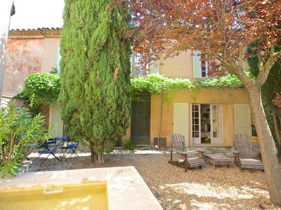 Photo for House close to Roussillon, Luberon, Provence pet friendly ,splasch pool