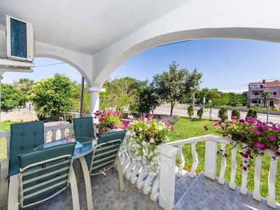 Photo for One bedroom apartment with terrace Zaton, Zadar (A-15000-a)