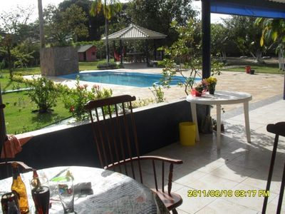 Photo for Wonderful farmhouse in the city of peruibe with pool and one more fit