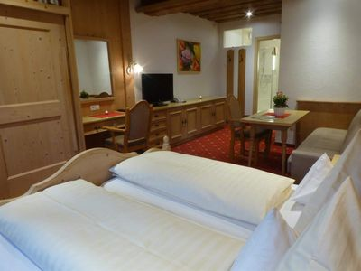 """Photo for Double room """"Grünberg"""" with living area - Pension Alpenhof - Feel-good pension"""