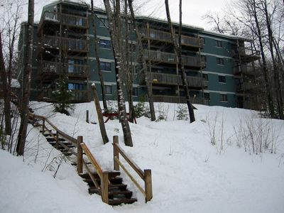 Photo for Sunday River ski in/out condo sleeps 4