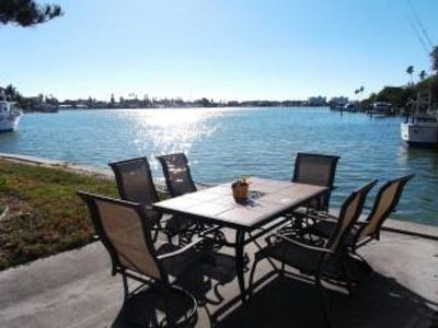 Outside dining - Enjoy you fresh catch, right off the grill at your outside dining area!  An ice cold margarita will help wash it down while enjoying the sunset from this perfect, tranquil spot.