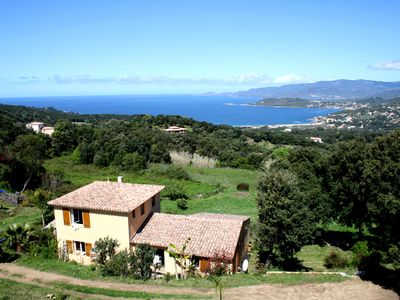 Photo for Cottage 2/3 pers., Near the sea and sea view, 23 km from Ajaccio
