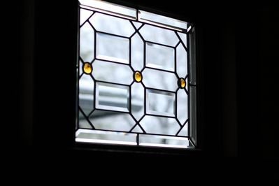 Beautiful leaded glass windows have been professionally restored.