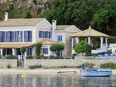 Photo for Beach front Villa 180-degree views, to the Kassiopi / harbour to the south