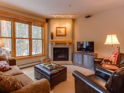 Photo for Cozy condo in private wooded setting w/shared hot tub, pool - close to slopes!
